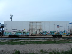 SUGA/GUILT/PHRITE/SINEK (whos the master) Tags: train graffiti rip suga reefer guilt phrite armn sinek