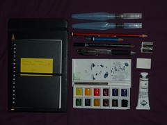 Sketching Kit (Blistered In The Sun) Tags: watercolour paintbox sketchkit