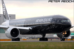 All Black's ready for departure. (Peter Reoch Photography) Tags: new uk england black london up airport all heathrow rugby aircraft aviation air jets off line special zealand civil commercial nz take blacks hacker boeing scheme 777 runway hold spotting civilian lhr 2012 b777 egll 777300 avgeek 27r zkokq