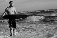 Skip's last day (Flyp4nd4) Tags: ocean sea portrait bw beach water surf waves skimboard