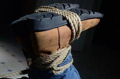 DSC_8847 (jakewolf21) Tags: work cowboy boots bondage rope sierra jeans hogtied ariat