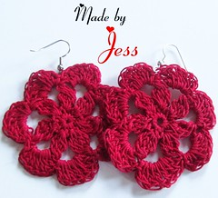 "Crochet Flower Earrings • <a style=""font-size:0.8em;"" href=""http://www.flickr.com/photos/66263733@N06/6913862563/"" target=""_blank"">View on Flickr</a>"