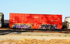 KAMITREKD (KNOWLEDGE IS KING_) Tags: red color art car yard train bench graffiti paint panel tracks rail railway socal crew boxcar piece burner bomb railfan freight fill sry catalyst in rollingstock tbv benched kamit paintedsteel rekd