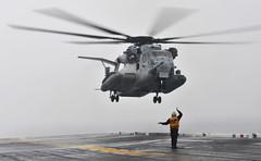 120213-N-KB563-458 (U.S. Pacific Fleet) Tags: russell helicopter pacificocean uspacificfleet ch46seaknight flightoperations usspeleliu lha5 hmh361 ch53eseastallion pacflt marineheavyhelicoptersquadron purplefoxes ironfist2012 marinemediumhelicoptersquadronhmm364