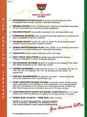 BJP Manifesto (joegoaukextra3) Tags: goa manifesto bjp panaji manohar joegoauk parrikar