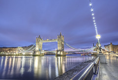 Day break Explore #5 (odin's_raven) Tags: bridge london tower towerbridge sunrise reflections dawn lights raven hdr odins odinsraven