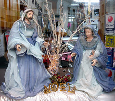 shop window Nativity, Ardres