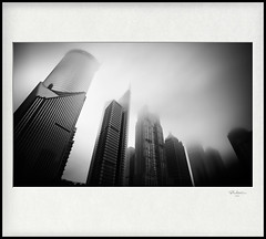 [  ] / the Passing City (blackstation) Tags: light bw white black canon reflections photography photo nice long exposure shanghai magic chinese professional       shanghaicity 2011  5d2 silverefexpro eos5dmarkii blinkagain wangdong wwwblackstationcom blackstation