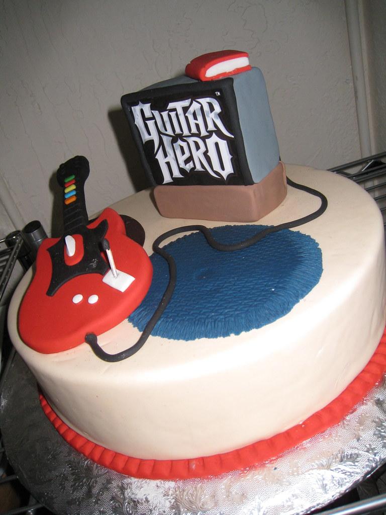 Guitar Hero Cake Mighty Fine Cakes Tags Birthday Wedding Art Beautiful