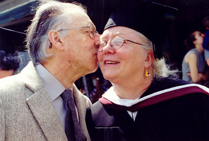 Music Professor Luis Batlle Gives His Wife, Literature Professor Geraldine Pittman de Batlle, a Kiss On the Way Into the Auditor