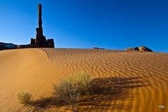 Totem pole in sand dunes (doveoggi) Tags: totempole monumentvalley sandunes monumentvalleynavajotribalpark 1191 bestcapturesaoi dailynaturetnc11