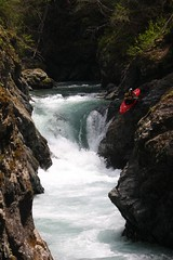Seal launch Chiroro creek Kayaking extreme Japan