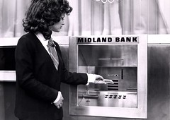 An early cash dispenser - c1975 (HSBC UK Press Office) Tags: uk history work women employment archive pay hsbc banking finance opportunities