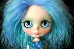 Proud As A Peacock Custom #55 ~ Handpainted Blue & Purple Eyes
