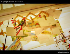Message From Hua-Hin /  (AmpamukA) Tags: travel texture night cicada message market thai hua hin messages huahin       ampamuka