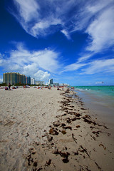 miami beach (Kevin Dyer) Tags: ocean travel sky beach water vertical architecture clouds digital canon buildings landscape photography coast photo sand kevin image florida fort miami smith images dyer atlantic east will lauderdale 5d fl imagery mkii