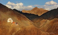 Ladakh, The Land of the Ancient Gods (Sayid Budhi) Tags: india mountain monastery himalaya lightandshadow ladakh gompa mountainsview travelphotography jammuandkashmir landscapephotography northernindia lehpalace buddhistgompa tsemogompa lehcity tsemonamgyalgompa jkprovince