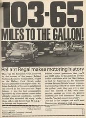 1969 RELIANT REGAL ADVERT (Midlands Vehicle Photographer.) Tags: 1969 advert regal reliant