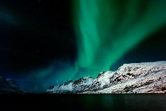 Polarlichter (swissgoldeneagle) Tags: winter light sea snow cold norway night photoshop lights meer nacht norwegen aurora modified astronomy kalt dunkel northernlights auroraborealis borealis troms norther polarlicht cs5 polarlichter d700
