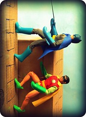 The Dynamic Duo (Wizard of X) Tags: robin comics actionfigure dc batman 1970s mego adamwest bobkane burtward billfinger worldsgreatestsuperheroes wizardofx