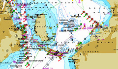 Chart over Öresund