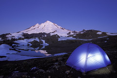 SH170 - Backpacking tent glowing below Mt Baker, North Cascades, Washington (Brad Mitchell Photography) Tags: camping light camp mountain lake mountains night outdoors evening washington twilight glow unitedstates outdoor dusk hiking tent hike adventure alpine backpacking wa glowing recreation camper backpacker mountbaker mtbaker northcascades campers cascademountains backpackers adventurous mountainous recreate northcascademountains washingtoncascades washingtoncascademountains whatcomcountywashingtonstate