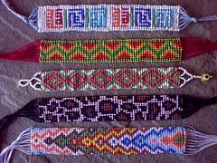 Bead Weaving - Four New Bracelet (LauraLRF) Tags: animal print leopardo pattern seed bracelet bead weaving bismillah patron pulsera abalorios brazalete telar manillas mostacillas basmala