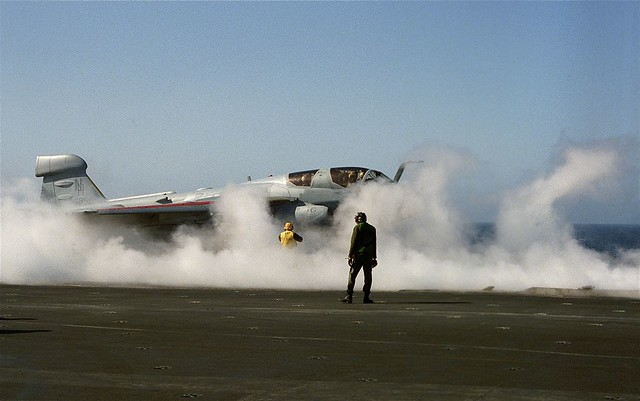 Grumman EA-6B Prowler aboard the USS ENTERPRISE -  1984