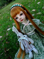 Blondie Mirta (Purple  Enma) Tags: park espaa up grass ball spain doll dolls meeting super pd andalucia cordoba bjd resin dollfie meet riz mueca msd mirta isy jointed mombi planetdoll
