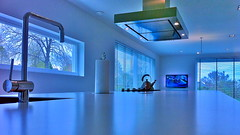 Minimalist kitchens create the illusion of space (iBSSR who loves comments on his images) Tags: blue light house apple window kitchen denmark cuisine xt design tv space internet siemens philips kkken led cocina pawson geeks illusion villa mano nordic kche minimalist hdr cozinha aw alessi 9000 cucina minimum iphone xlarge builtin sociable newform woonkeuken deltalight kvik bssr kuchina cininils mengkraan huibvanwijk kvikheerlen ltuit leefkeuken