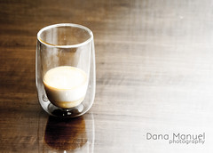 milk coffee (Dana C. Manuel) Tags: glass coffee milk cafe shots espresso shotglass coffeegrinder bombon hario