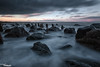 Black Skies (Dave Brightwell) Tags: sunset sea seascape storm water clouds canon dark coast rocks post hitech redsnapper seaham countydurham chemicalbeach bwnd davebrightwell