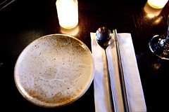 Table setting (thewanderingeater) Tags: nyc dinner manhattan tribeca kori koreancuisine korirestaurant