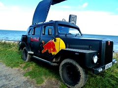 michael's photos 2012 album 1 010 (michaelfcburke) Tags: road uk red england sky castle beach car coast energy surf dj drink britain bull northumberland landrover bamburgh comp casl redbullbreak5 michaelsphotos2012album1