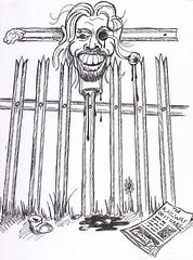 Justice (Jason 87030) Tags: camera shot cartoon wanker fencing bloodmoon 2014 richardbranson scetch looksharp palisadefence canoneosfotsummer jasonrodhouse