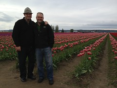Paul and Terry at the Skagit Valley tulip fields (pbeppler) Tags: