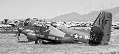 133341 Grumman RS-2C Tracker msn 13B UF VC-3 (eLaReF) Tags: masdc tucson az boneyard 133341 grumman rs2c uf storage dm davismonthan davis monthan derelict desert airplane graveyard aeroplane bw black white tracker msn 13b vc3