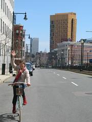 on the road (Ir. Drager) Tags: boston bike mama tour huntingtonavenue geotagged usa massachusetts family