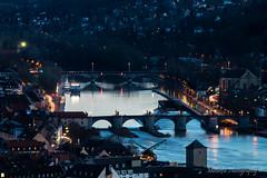 Bridges over the Main II (Misterfie Photography) Tags: bridge river germany bayern deutschland bavaria evening abend licht traffic main franconia franken brcke fluss verkehr wrzburg lichter