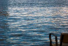 banco sujeto a riesgo (Sili[k]) Tags: blue sea reflection azul puerto mar nikon banco bank minimal reflejo minimalism minimalismo almería d3000