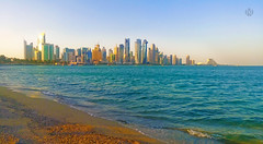 doha buildings (m7diab) Tags: morning sea summer building beach mobile effects photography sand alone natural sony lonely filters m5 doha qatar m7     xperia m7diab