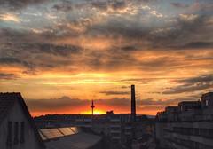 Shiny Frankfurt (marfis75) Tags: sunset red sky germany deutschland abend hessen frankfurt main himmel cc fernsehturm deutsch spargel abendrot ffm abends marfis75