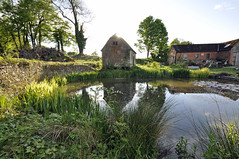 wide angle Dorset (dawn.v) Tags: uk england landscape countryside pond nikon village may dorset granary wideanglelens 2016 chettle saddlestones wideangledorset