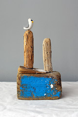 Salt & Timber No 14 (Shockin Goblin) Tags: seagulls art home cornwall seagull made fimo driftwood ornament penryn shabby