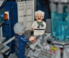 Lego Doc Brown In The TARDIS (Finlay Yusef-Cook) Tags: brown lego tardis doc legography