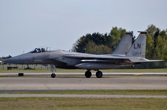 United States Air Force McDonnell Douglas F-15C Eagle 86-0171 at RAF Lakenheath 5/5/16 (CraigPatrick24) Tags: plane airplane flying fighter aviation transport flight jet aeroplane departure usaf raf taxiing mcdonnelldouglas taxiway unitedstatesairforce lakenheath raflakenheath mcdonnelldouglasf15 mcdonnelldouglasf15c mcdonnelldouglasf15ceagle 860171
