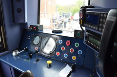 158798 Cab, GWR Open Day (sgp_rail) Tags: eye st train bristol day open view cab seat phillips rail railway class controls depot express dashboard console onboard drivers dept 158 springboard gwr sprinter dmu 158798