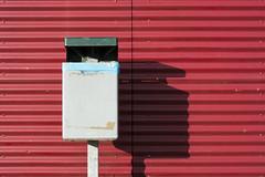 Litter bin (Jan van der Wolf) Tags: shadow red lines wall composition shadows redrule garbagecan trashcan minimalism schaduw rood minimalistic muur lijnen prullenbak litterbin minimalisme compositie litterbasket map140189v