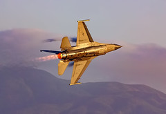 F-16 Viper at Twilight in Full Afterburner (Dave Toussaint (www.photographersnature.com)) Tags: california ca travel usa nature speed photoshop canon airplane landscape fire flying photo interestingness google interesting twilight raw glow photographer image aircraft scenic picture explore cc flame adobe april getty chino adjust vaportrail planesoffame lockheedmartin 2016 afterburner fighterjet f16fightingfalcon denoise f16viper 60d topazlabs chinoairshow chinoairport planesoffameairmuseum photographersnaturecom davetoussaint creativecloud
