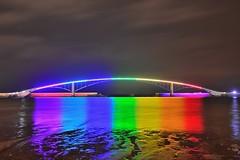 ~~  Rainbow Bridge (Shangfu Dai) Tags: bridge reflection beach night clouds bay rainbow nikon taiwan nightscene   penghu  d800      xiying     afs1635mmf4